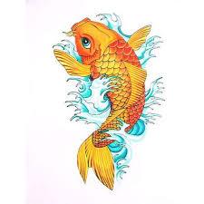 orange koi fish design 2 tattoos book 65 000 tattoos designs