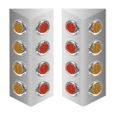 peterbilt air cleaner lights mack double sided fire wall air cleaner light bar with 2 leds