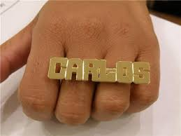 two finger name ring gold plated two finger name rings nameplate personalized l1 nikfine