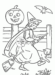 cute witch coloring pages kids halloween printables free