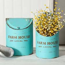 two farmhouse set of two farmhouse kitchen bins sweetcountrystyle com