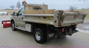Ford F350 Dump Truck With Plow - 2001 ford f350 xl super duty plow truck item d7160 sold