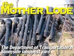 sunnyside lamppost yard forgotten new york