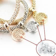 bracelet pendant images Tree of life quot charm bracelet with austrian crystals pandoras box inc jpg