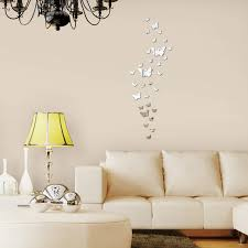 real home decor diy acrylic mirror wall sticker butterfly modern real promotion