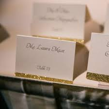 Place Cards Wedding Wedding Place Cards Formal Glitter Escort Cards Gold Glitter