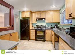 Kitchens With Light Wood Cabinets American Light Wood Kitchen Interior Stock Photo Image 57329535