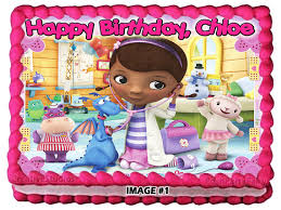personalized doc mcstuffins 1 edible image cake by poshpartyfairy