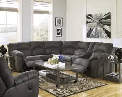 Sectional Sofa With Recliner Signature Design By Ashley Tambo Pewter 2 Piece Reclining Corner
