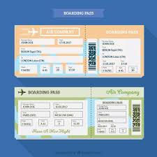fantastic boarding pass template with different colors vector
