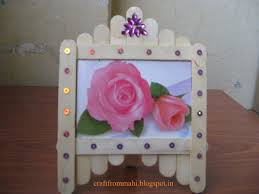 lovely photo frame craft from ice cream sticks ideas exceptional