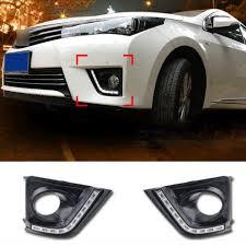 toyota corolla fog lights 10 led car drl for toyota corolla 2014 2015 daytime running lights