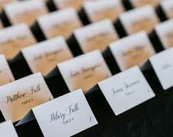 wedding place card etsy