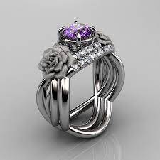 natural amethyst rings images Nature inspired 14k white gold 1 0 ct amethyst diamond rose vine jpg
