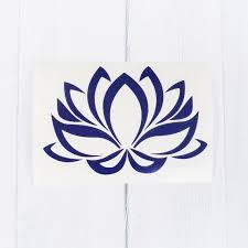 lotus flower decal lotus flower sticker decal lotus