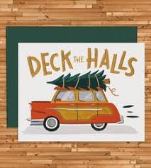 Susan Wallace Barnes Christmas Cards Station Wagon With Christmas Tree Card Station Wagon Christmas