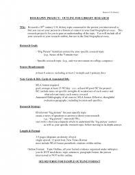 research paper outline sample mla format