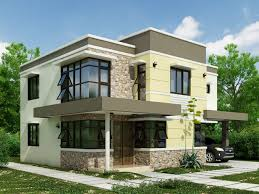 modern color of the house architecture small neutral color with interior and exterior