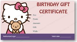 birthday gift certificate template free download gift