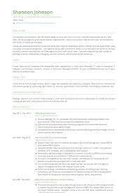 Resume For Marketing And Sales Marketing Coordinator Resume Samples Visualcv Resume Samples