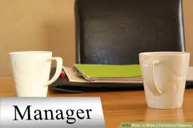 A Functional Resume How To Write A Functional Resume With Sample Resumes Wikihow