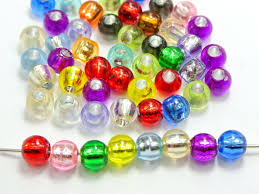 aliexpress com buy 400mixed color silver foil hole pony round