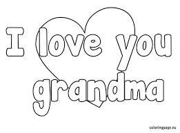 love grandma coloring pre