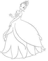 disney princess tiana printable coloring pages disney princesses