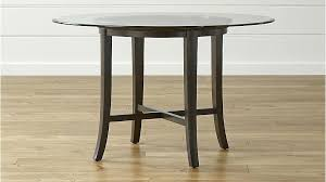 dining table round glass top dining table with oak legs round