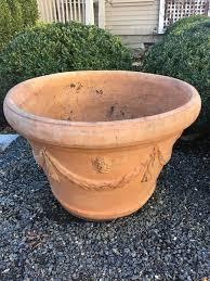 set of three large terracotta planters by domenico ricceri at 1stdibs