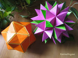 Origami Modular Flower - origami revealed flower popup star youtube