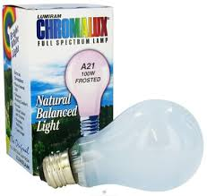 chromalux color corrected incandescent light bulb 100 w