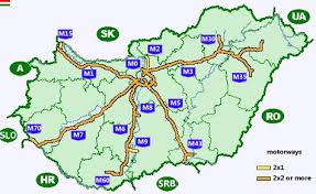 autostrady na węgrzech mapa ceny winiety