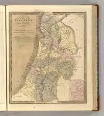 Map Of Canaan Palestine Or The Holy Land Or The Land Of Canaan David Rumsey