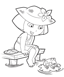 dora coloring pages backpack diego boots swiper print and