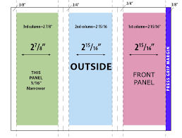 grid layout for 8 5 x 11 adobe indesign trifold brochure where do the fold lines go