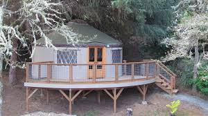 How To Build A Awning Over A Deck How To Add A Porch Deck Or Awning To Your Yurt Pacific Yurts
