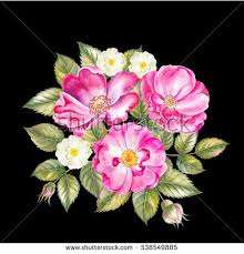 vintage bouquet embroidery vintage flowers bouquet poppy daffodil stock vector