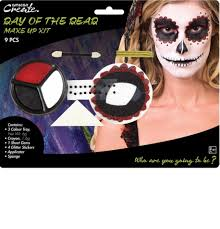 Halloween Party Makeup Female Day Of The Dead Make Up Kit By Amscan 9901426 Karnival