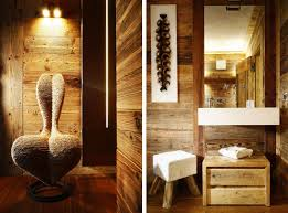decorations elegant rustic bathroom design with wooden wall