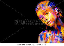 Colors Of Yellow Portrait Beautiful Mermaid Wet Skin Stock Photo 501338131