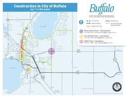 Map Buffalo Buffalo Construction Map July 11 To Mid August U2013 City Of Buffalo Mn