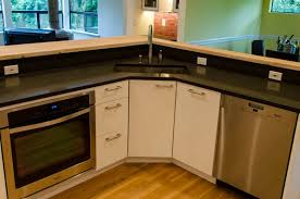 Kitchen Furniture Corner Kitchen Sink Cabinets Kraftmaid Base - Corner sink kitchen cabinets