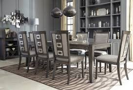 9 piece dining room set ashley furniture chadoni 9 piece smokey grey dining room set d624