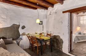 Small Cottages by Traditional Houses In Crete Greece