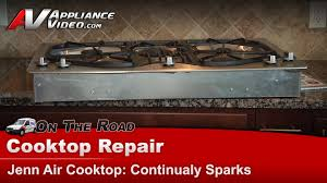 Jennaire Cooktop Jennair Cooktop Repair Continually Sparks Jgc8536bds11 Youtube