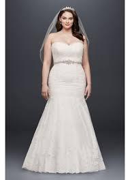 hem wedding dress lace plus size wedding dress with scalloped hem david s bridal
