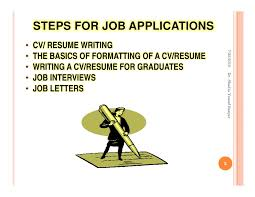 Resume For Job Application by Steps For Job Applications By Dr Shadia Yousef Banjar Pptx