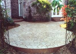 diy concrete patio cover ups ideas design simple stained cement