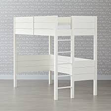 Uptown White Loft Bed The Land Of Nod - Land of nod bunk beds